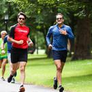 Leading by example: Canadian Prime Minister Justin Trudeau and Leo Varadkar out for a run