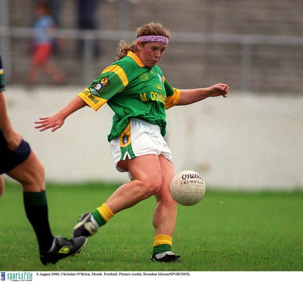 Christine back in 2000, when she played for Meath Pic: Brendan Moran / Sportsfile