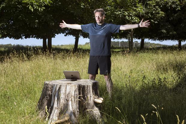 John Meagher trains with his fitness app in the Phoenix Park