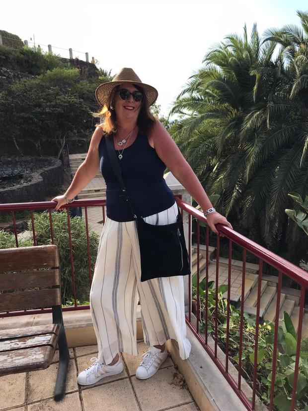 Barbara Scully during her recent holiday to the Canaries