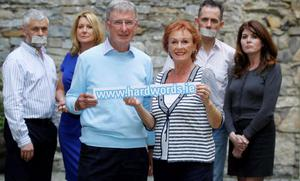 Speak out: At the launch of the HardWords.ie Website in 2012 were, from left, Mark McAllister with Karen Rafferty, Mick Beecher, Marjorie Crowley, Tony Murphy, and Frances Langan. HardWords.ie, developed by Pfizer Healthcare Ireland, is for men and their partners to help understand, accept and take action on erectile dysfunction