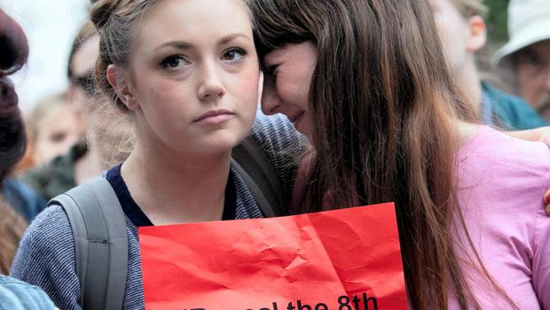 Controversial issue: A Choice Ireland demonstration in protest at the treatment of a suicidal pregnant woman who was refused an abortion