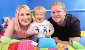 Michelle and Alan Finglas with their son Dylan. Photo: Gerry Mooney.