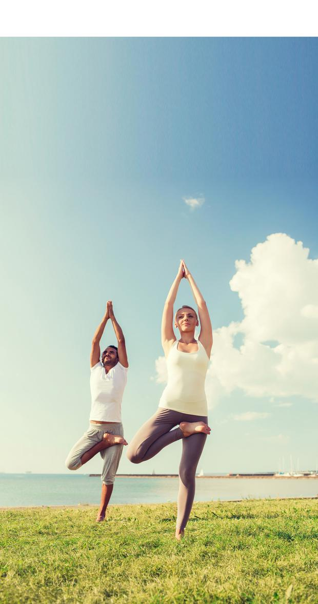 Yoga can help tackle stress.