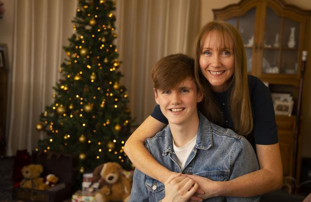 Matthew McCartin and mum, Martina, at their home in Gorey, Co Wexford. Picture: Patrick Browne
