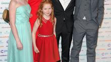 Storm with Ronan Keating's children in 2013