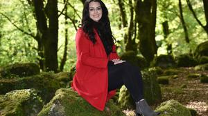 Grace Alice O'Shea who is a sex and relationship educator, in Barna Woods, Galway. Photo: Ray Ryan.