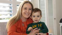 Orla Galvin from Wexford with her two-year-old son, Rory Corrigan. Photo: Mary Browne