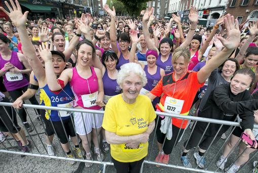 Maureen Armstrong after running the Flora Women's Mini Marathon earlier this year