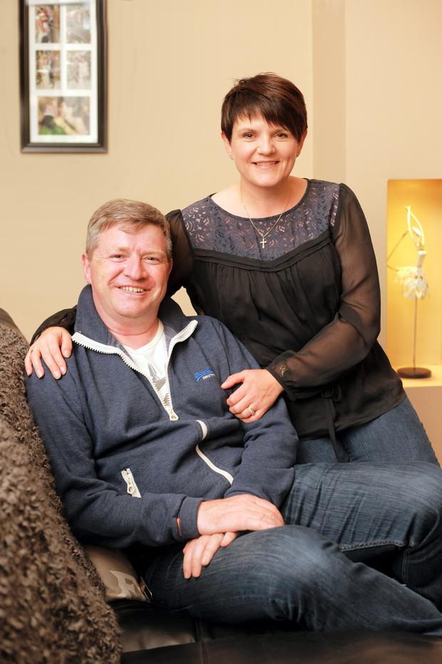 Paul Lannon, who has MND with his wife Sandra at home in Dunleer