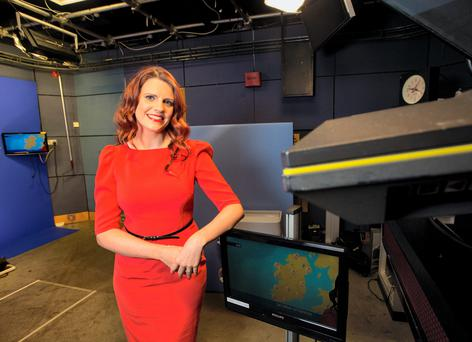 Caroline Worthington, who signs the weather forecast on RTE, is looking forward to her wedding. Photo: Fergal Phillips