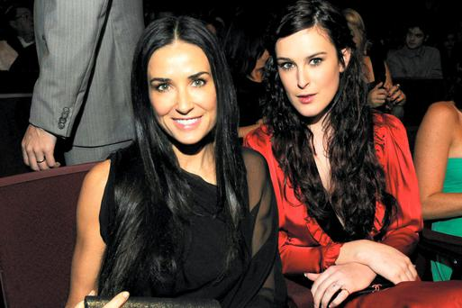 Demi Moore with daughter Rumer Willis