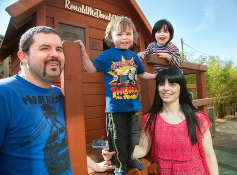 Alan Cotter and Aisling Considine with their children Lee and Joe. Photo: Tony Galvin.