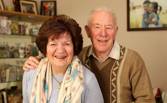 Peggy McManus with her husband Matt. Photo: Gerry Mooney