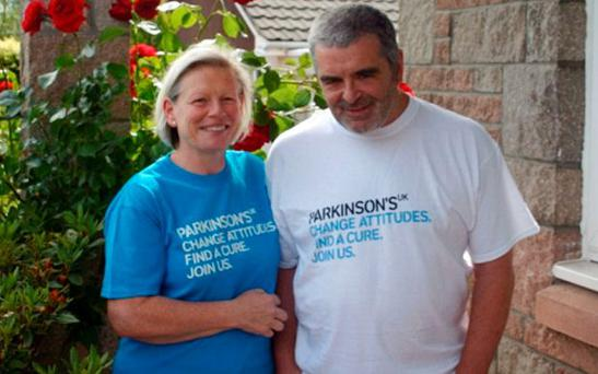 Joy Milne pictured with her husband Les who died in June after being diagnosed with Parkinson's. Photo: BBC