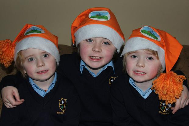 George, Archie and Isaac Naughton will be switching on the Christmas lights at Heuston Station on December 1. Facebook
