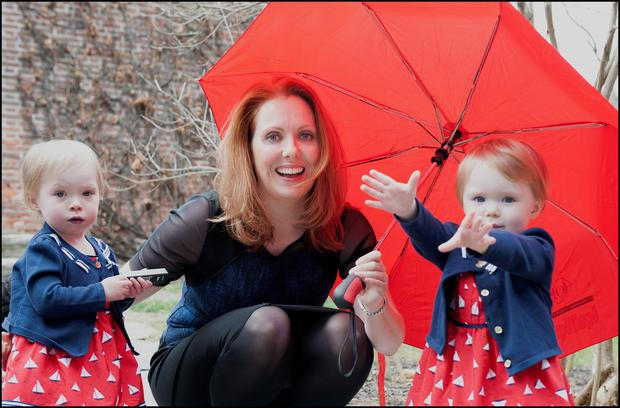 Mum Anita with her two-year-old twins Annabel and Abbigael. Photo: Dave Conachy