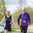 Marathon runners and husband and wife duo Joe and Kay O' Regan. Picture: Patrick Browne.