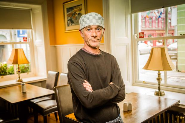 Chef Sean Malone at The Valkenburg Hotel where he works in Ballinrobe, Co Mayo. Sean underwent a revolutionary new treatment after suffering a stroke. Photo: Keith Heneghan / Phocus