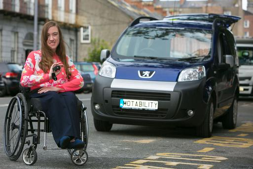 Niamh Ryan is about to enjoy a new independence with her modified car. Photo: Brian Gavin Press 22