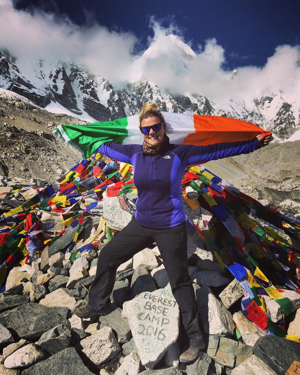 Julie Dennehy pushed herself to conquer her lifelong fear of heights and climb Mount Everest