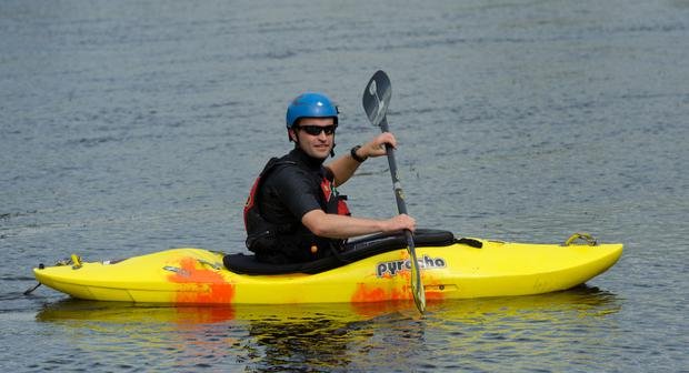 Mike Jones resolved to embark on a 10km kayak race
