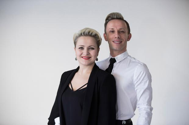 Marcin with his partner and wife, Ksenia Yanchenkova
