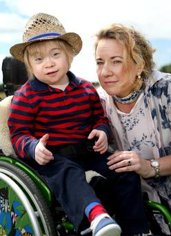 Appeal for help: Jack McNiffe and his mother Aisling who is calling for a catch-up programme for the meningitis B vaccine. Photo: Gerry Mooney