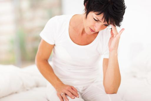 Menopause is by definition the end of menstruation. Stock photo