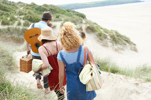 Go with the flow: A trip to the beach with friends is a great way to let off steam