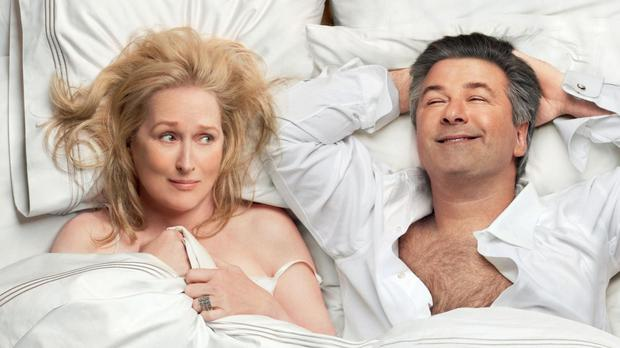 Full lives: Meryl Streep and Alec Baldwin play a divorced older couple Jane and Jake Adler who have a fling in It's Complicated