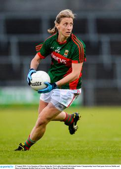 Mayo's Cora Staunton is looking forward to the All-Ireland final, when Mayo play Dublin at Croke Park this Sunday. Pic: Ramsey Cardy/ Sportsfile