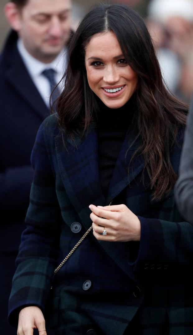 Meghan Markle told well-wishers in Edinburgh that her bachelorette is 'sorted' Photo: Reuters