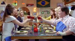 Bride and joy: A scene from the hen party in Bridesmaids