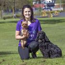 Lydia Cooper plans to complete the Vhi Mini Marathon with her dogs Penny and Cleo next month. Photo: Tony Gavin