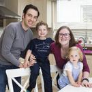 Eilish Behan with her husband Anthony and their children Finn (3) and River (16 months). Photo: Mark Condren