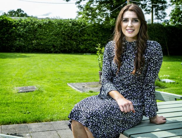 Kristina Troy, who cares for her father who has lung cancer, at her home in Co Meath. Photo: Kyran O'Brien