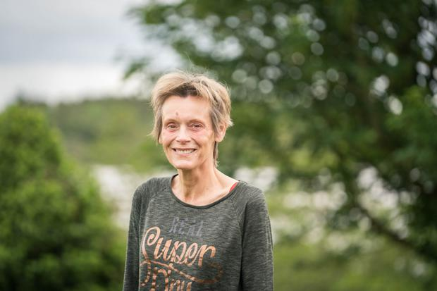Jessica Grehan, pictured at her home near Ballinrobe, Co Mayo, is undergoing treatment for lung cancer. Photo: Keith Heneghan