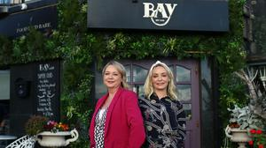 Number crunching: sisters Niamh and Sinead Costello, owners of Bay in Clontarf, Dublin. Photo by Mark Condren