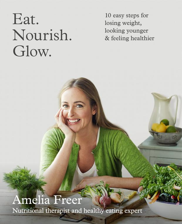 'Eat Nourish Glow', by Amelia Freer book cover