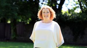 Writer Audrey Kane at the start of her healthy eating challenge