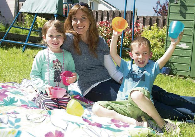 Mother's pride: Fiona Kennedy with her children Donnchadh (6) and Muireann (3). Photo: Andrew Downes