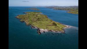 Horse Island off the west coast of Cork features seven houses, a tennis court, gym, games house, three private beaches and a helicopter pad