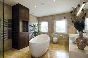 The bathroom in the Clontarf property.