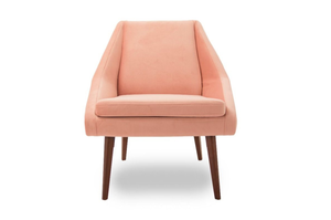 Chair, €299 Sharp and modernist, the Panama Pink Velvet Angled Accent Chair, will add a plush touch; ezliving-interiors.ie