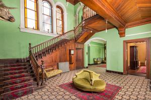 Ravensdale, the house that the 'Irish Monty' rebuilt: the great hall with its trophy heads