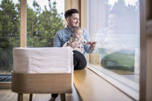 Dads need to be part of the conversation when designing baby products, says Lucia Nash, who created this Hugg crib