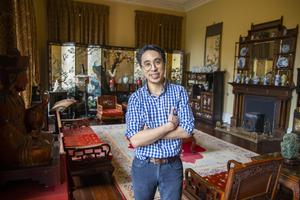 Alexander Jan, son of Dr Jan, the late owner of Pouldrew House, in the Chinese drawing room. Photo: Patrick Browne