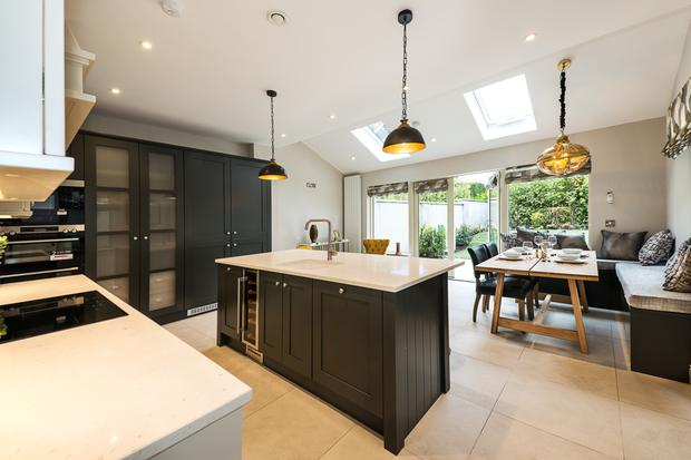 A luxury kitchen and living space at Inglenook Woods