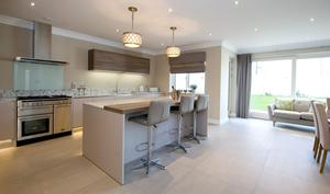 The open-plan kitchen at Howth Road
